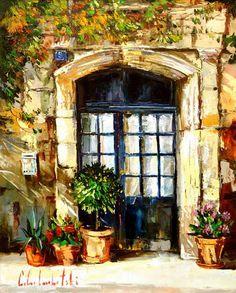 Wine Door (2006) - 31 x 24 Original Oil on Canvas