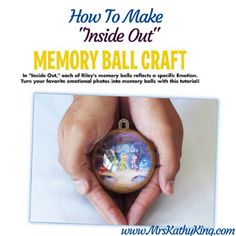 Are you looking for a special way to capture you memories? Although the picture above shows a picture of the control center in Riley'shead, you can easily replace that image with your own. Here are some cute ways to use thisInside Out Memory Ball craft. Birthday Parties – Have each guestbring a4×6 picture oftheir …
