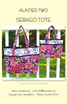 SEBAGO TOTE SEWING PATTERN, Bags, Purses & Totes From Aunties Two NEW #AuntiesTwo