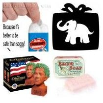 Tacky White Elephant Gift Ideas by SkinnyScoop Team