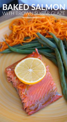 Easy Baked Salmon Recipe with Brown Sugar Glaze.  Glazed with a sweet and spicy blend of brown sugar and Dijon mustard, this baked salmon melts in your mouth! Serve this easy baked salmon recipe year round with your favorite seasonal vegetables. @AlaskaSeafood #AskForAlaska #IC #ad