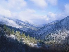 Winter View of Sugarlands Valley, Great Smoky Mountains National Park, Tennessee, USA Photographic Print by Adam Jones at AllPosters.com