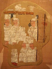 """Manichaean Electae, Kocho, 10th century. Check for connections; Another source of Mani's scriptures was original Aramaic writings relating to the book of Enoch literature (see the Book of Enoch and the Second Book of Enoch), as well as an otherwise unknown section of the book of Enoch called the """"Book of Giants"""". This book was quoted directly, and expanded on by Mani, becoming one of the original six Syriac writings of the Manichaean Church."""