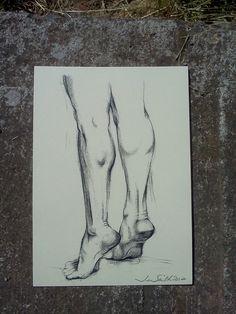 Faith Charcoal drawing Life study 8 x 10 print by jazyjen42, $20.00