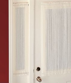 Cotton Voile Sidelight Panel For The Annoying Sidelight. Sidelight CurtainsVoile  CurtainsDoor ...