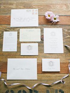 Beautiful San Diego Wedding from Lane Dittoe -  wedding invitaiton