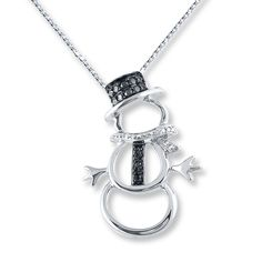 Artistry Diamonds Diamond Turtle Necklace 1/10 carat tw Sterling Silver/10K Gold