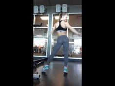Elenora Dobrinina WBBF fitness model pro - posing practice