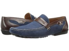 Mezlan & Servet (Blue/Brown) Men& Slip-on Dress Shoes Men's Slippers, Slip On Dress Shoes, Blue Brown, Loafers Men, Men Dress, Oxford Shoes, Dresses, Fashion, Vestidos