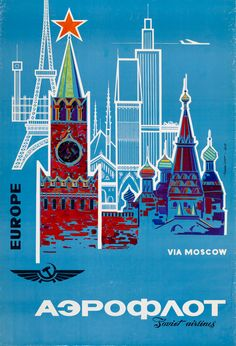 Vintage Posters of Eastern Airline Companies (Eastern Airline Companies - Aeroflot)