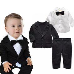 Bebê recém-nascido Rompers meninos manga comprida Bow Tie roupas Set corpo infantil Tails terno da criança Gentleman macacão menino roupas de marca