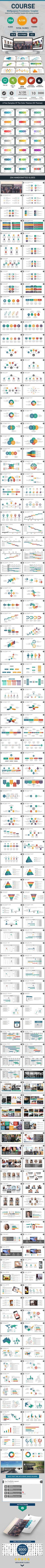 Course Multipurpose PowerPoint Presentation Template (PowerPoint Templates)