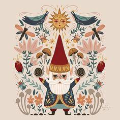 Illustration Noel, Christmas Illustration, Illustrations, Pattern Illustration, Scandinavian Folk Art, Christmas Art, Xmas, Art Inspo, Cool Art