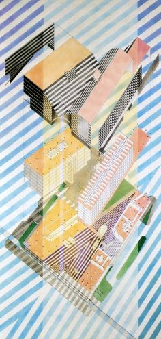 a drawing from the architectural review. Helmut Jahn (1980)