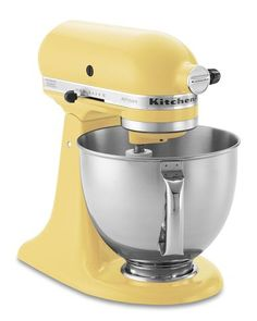 Kitchen Aid Mixer in Majestic Yellow. So excited! Ordered this beauty for myself and waiting for its arrival this week!