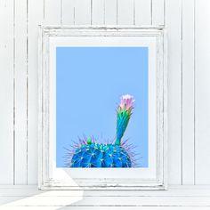 Cactus Print, Mexican Decor, Printable Art, Blue Cactus Print, Flowers Art Print, Instant Download, Wall Art, Home Decor, Mexico Decoration Cactus Wall Art, Cactus Print, Printing Services, Online Printing, Art Blue, Printable Wall Art, Flower Art, Different Colors, Contemporary Art