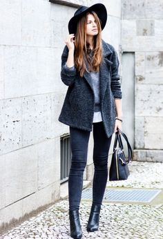 Looks de abrigo con sombrero para otoño 2015 | ActitudFEM
