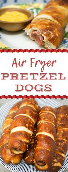 air fryer hot dogs Air Fryer Pretzel Dogs are a great snack idea for your next get-together. They are easy to make in the Air Fryer just by ing these step-by-step instructions. How will you dip your Pretzel Dog Air Fryer Recipes Potatoes, Air Fryer Oven Recipes, Air Frier Recipes, Air Fryer Dinner Recipes, Recipes Dinner, Air Fryer Recipes Appetizers, Avocado Toast, Pretzel Dogs, Sauce Pizza