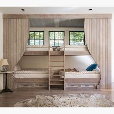 These built-in bunks are so unique!  Credit to Austin Bryant Moore LLC