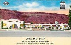 UT Saint George Utah Milne Motor Court Motel Exterior Colourpicture No 6226 | eBay