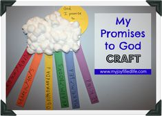 My Promises to God Craft - a simple rainbow craft for kids that incorporates promises they make to God.