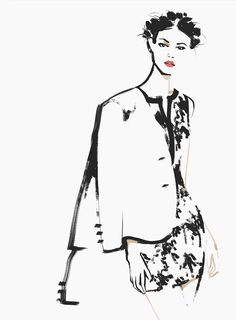 "murysina: Fashion illustrations for Reserved project ""Be inspired""."