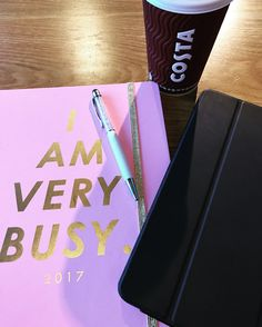 Working over coffee. How cute is my ban_do diary though? #shopban_do #ipadair2 #costa