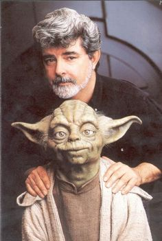 George Lucas with Yoda