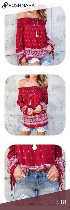 flora print off shoulder blouse top Beautiful casual style floral print off shoulder blouse. Tops Blouses
