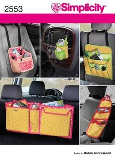 Crafts car organizers Sewing Pattern 2553 Simplicity