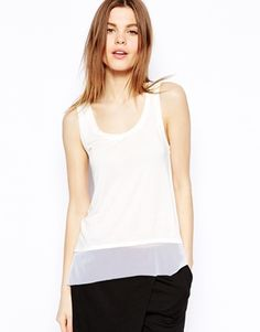 ASOS Vest with Sheer and Solid Panels
