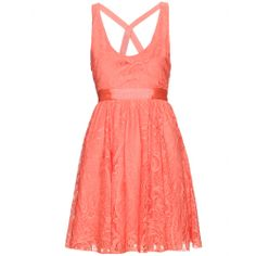 ODETTE DRESS WITH LACE OVERLAY seen @ www.mytheresa.com