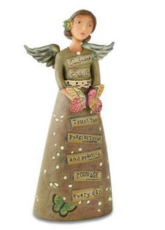 From the Kelly Rae Roberts Collection,Embrace Change Figure, Angel, Demdaco - $23
