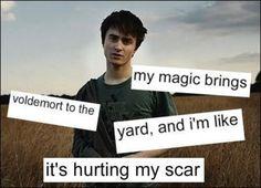 My magic brings Voldemort to the yard...