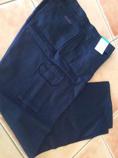 Size 87 WORK WEAR WORLD Long Pant CARGO HEAVY DRILL, NAVY BLUE Brand New W Tags