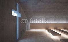Illustration: Abstract modern church on Fotolia