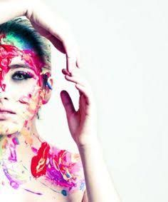 paint splatter model photo - Google Search
