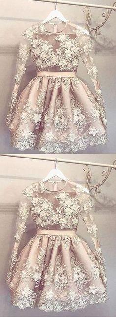 A-Line Homecoming Dresses,Round Neck Homecoming Dresses,Short Homecoming Dresses,Light Champagne Homecoming Dresses,463
