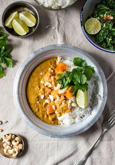 Pumpkin coconut curry - Lazy Cat Kitchen