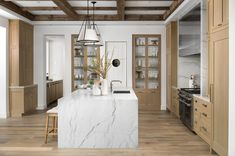 Rose Gold Kitchen Accessories, White Oak Kitchen, Glazed Brick, Interior Design Photography, Visual Comfort, Spotlights, Built Ins, Great Rooms, House Design