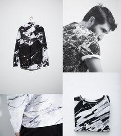 BLACK MARBLE INSPIRATION Voo Store #abstratos #PB #urbano #masculino #FocusTextil
