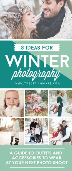 Colors to wear and how to dress for a winter photography session. www.TheDatingDivas.com