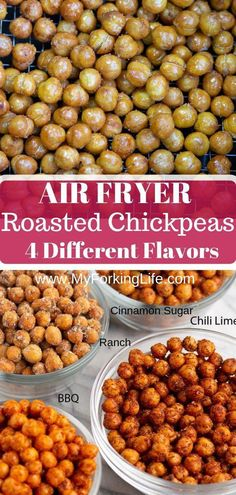 These Air Fryer Roasted Chickpeas are crispy and delicious. Step by step photos … These Air Fryer Roasted Chickpeas are crispy and delicious. Step by step photos and instructions included on how to get crispy chickpeas in your Air Fryer. Air Fryer Recipes Potatoes, Air Fryer Oven Recipes, Air Fryer Dinner Recipes, Air Fryer Recipes Cauliflower, Air Fryer Recipes Vegetables, Recipes Dinner, Potato Recipes, Chickpea Recipes, Vegetarian Recipes