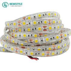 5 메터/롤 SMD 5050 방수 LED 스트립 유연한 빛 60Led/m DC 12 볼트 화이트/따뜻한 화이트/레드/그린/블루/RGB