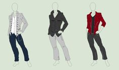 Outfit Adopts 3 Pack - Fancy Gentlemen - SOLD by ShadowInkAdopts.deviantart.com on @deviantART