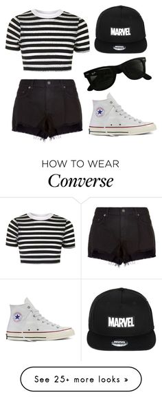 """Untitled #253"" by fashionaholic4ever on Polyvore featuring rag & bone, Topshop, Converse and Ray-Ban"