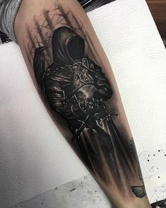 Dunkler Ritter oder so . - tattoo inspo tattoos for women Forearm Cover Up Tattoos, Cover Tattoo, Leg Tattoos, Body Art Tattoos, Tattoo Art, 100 Tattoo, Leg Tattoo Men, Warrior Tattoos, Badass Tattoos