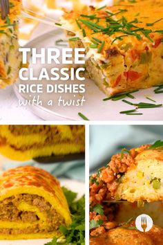 Learn how to make the easiest rice dishes with a twist for easy dinner ideas! What's the twist? They're all made with a creative twist on rice so you can create easy (and show-stopping) rice recipes with these 3 ideas: - Cheesy Chicken À La King Rice Loaf 🍗🍚 - Bobotie Rice Roll-Up 😍 - Garlic Butter Shrimp Ring 🍤 Get ready to upgrade your rice with epic twists on classic rice dishes - perfect for quick and easy feed-a-family meals and easy show-stopping dinners. Butter Shrimp, Garlic Butter, Loaf Recipes, Rice Recipes, Classic Rice, Mini Apple, Cheesy Chicken, Rice Dishes, Light Recipes