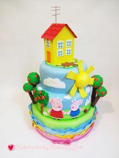 Bolo Cenográfico Peppa Pig Bolo Da Peppa Pig, Aniversario Peppa Pig, Princess Peach, Birthday Cake, Bolo Fake, Desserts, Food, Birthday Cakes, Peppa Pig Birthday Cake