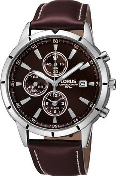 Lorus by Seiko Gents Chronograph Brown Leather Strap Watch RF331BX9 by Lorus, http://www.amazon.co.uk/dp/B005AVEHZ8/ref=cm_sw_r_pi_dp_dZOCrb0YZ13VG